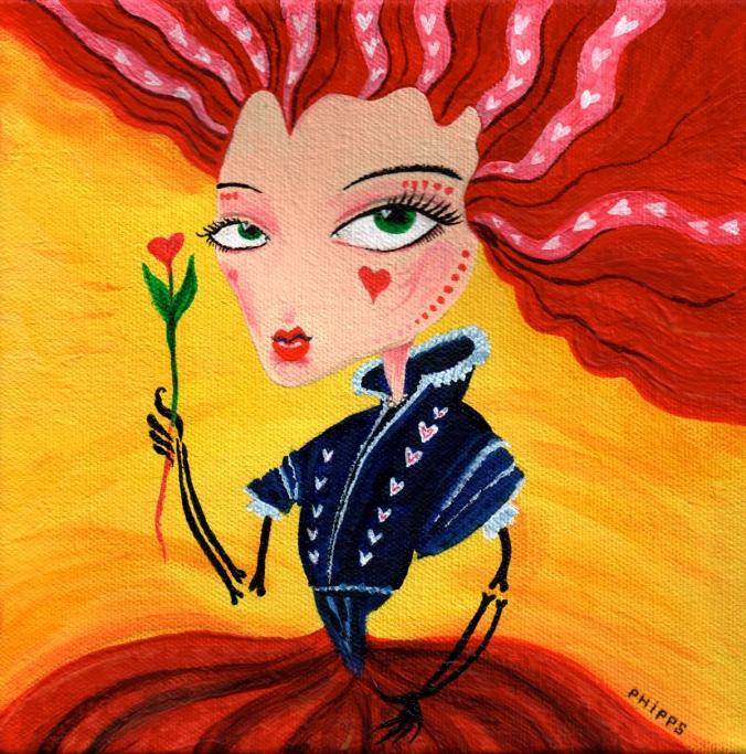 Queen of Hearts Art by Andrew Phipps