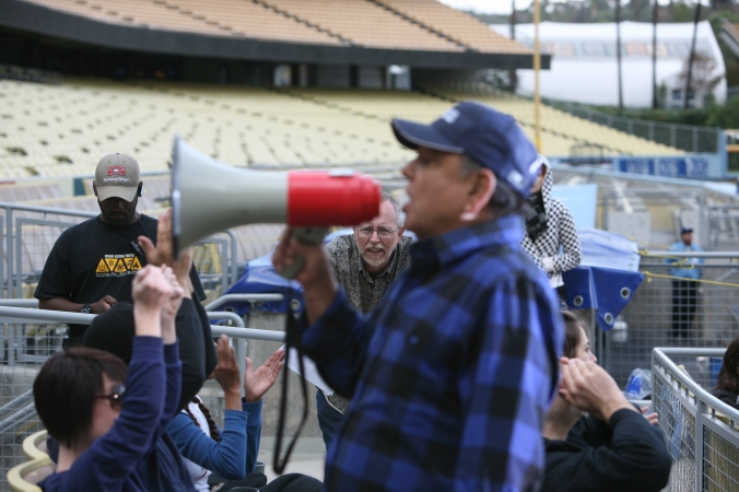 Cheech Marin at Dodger Stadium